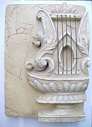 HARP WALL PLAQUE