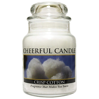 Crisp Cotton 6 Ounce Glass Baby Jar Candle