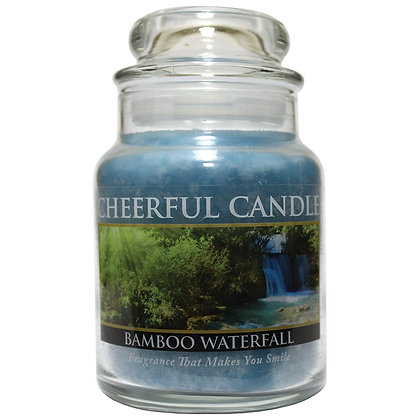 Bamboo Waterfall 6 Ounce Glass Baby Jar Candle