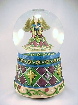 Angel Christmas Music Box Snow Globe