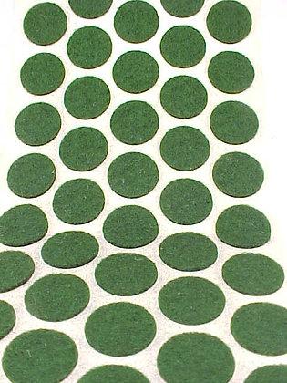 100 GREEN 5/8 INCH FELT PROTECTOR DOTS