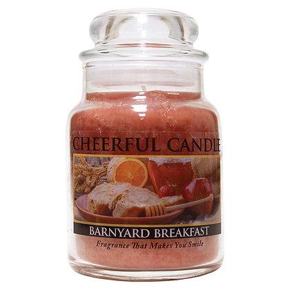 Barnyard Breakfast 6 Ounce Glass Baby Jar Candle