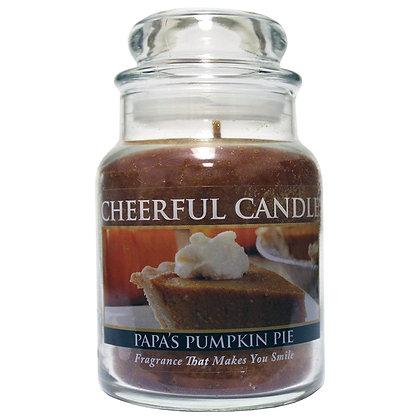 "Papa""s Pumpkin Pie 6 Ounce Glass Baby Jar Candle"