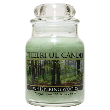 Whispering Woods 6 Ounce Glass Baby Jar Candle