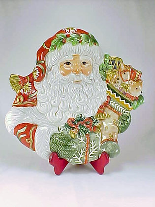 Fitz And Floyd Winter Holiday Santa Plate