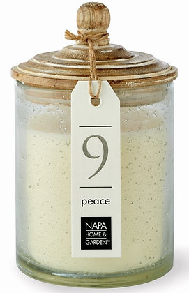 Peace Gray Oak Scented Soy Wax Candle