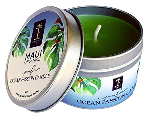 Maui Organics Pacific Ocean Passion Candle 4 Ounce