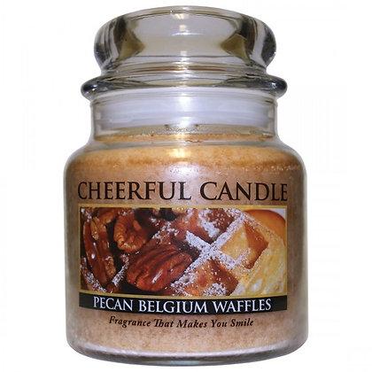 Pecan Belgium Waffles 16 Ounce Glass Jar Candle