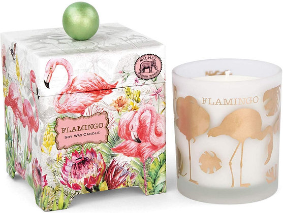 Flamingo 14 Ounce Keepsake Box Candle