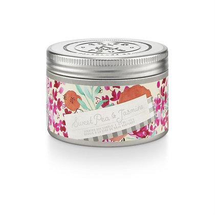 Sweet Pea & Jasmine 4oz Soy Wax Candle Tin