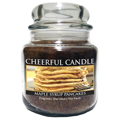 Maple Syrup Pancakes 16 Ounce Glass Jar Candle
