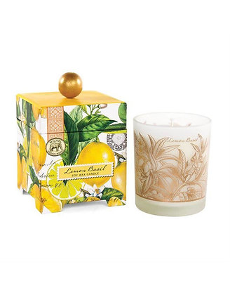 Lemon Basil 14 Ounce Keepsake Box Candle
