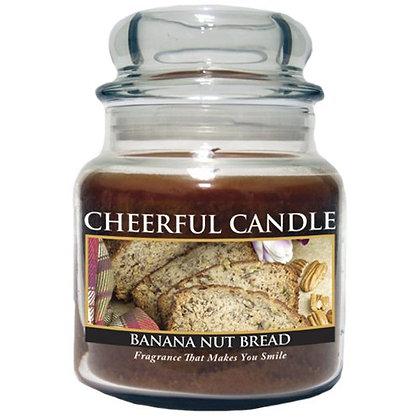 Banana Nut Bread 16 Ounce Glass Jar Candle