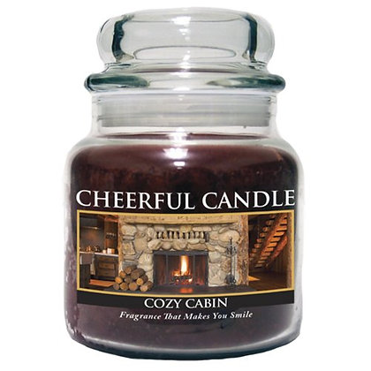 Cozy Cabin 16 Ounce Glass Jar Candle