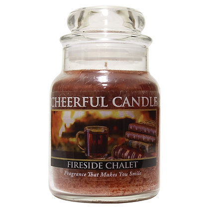 Fireside Chalet 6 Ounce Glass Baby Jar Candle