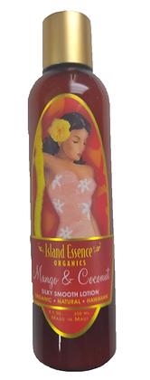 Island Essence Mango Coconut Natural Organic Body Lotion  8.5 Oz