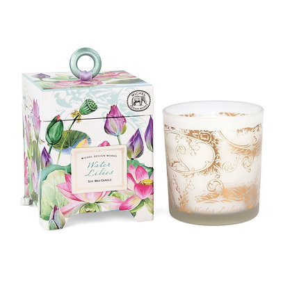 Water Lilies 14 Ounce Keepsake Box Candle