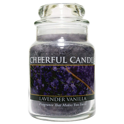 Lavender Vanilla 6 Ounce Glass Baby Jar Candle