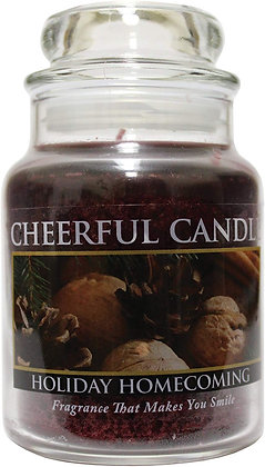 Holiday Homecoming 16 Ounce Glass Jar Candle