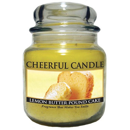 Lemon Butter Pound Cake 16 Ounce Glass Jar Candle