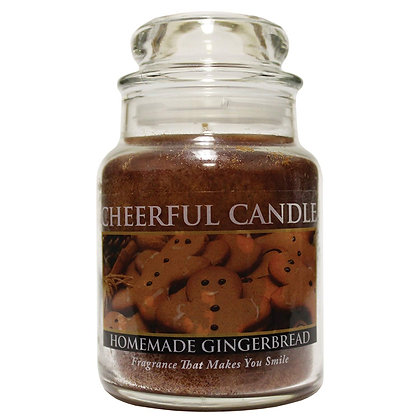Homemade Gingerbread 6 Ounce Glass Baby Jar Candle