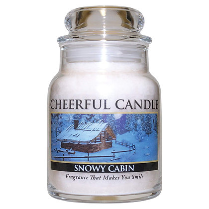 Snowy Cabin 6 Ounce Glass Baby Jar Candle