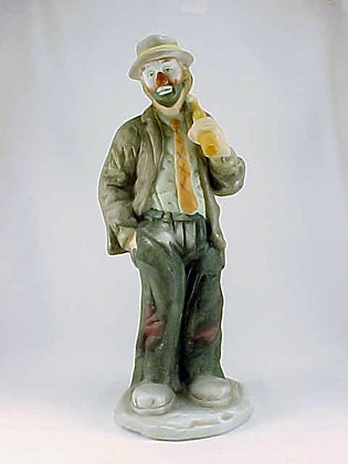 Emmett Kelly Jr Clown Hobo Knapsack Porcelain Figu