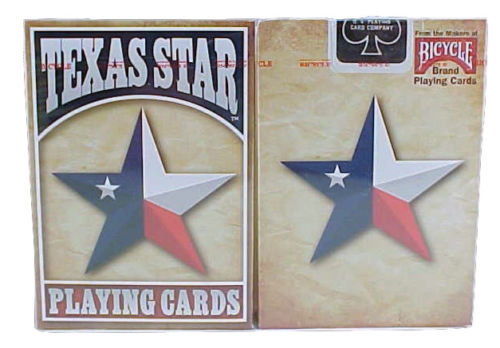 1 Deck Texas Star Flag Standard Poker