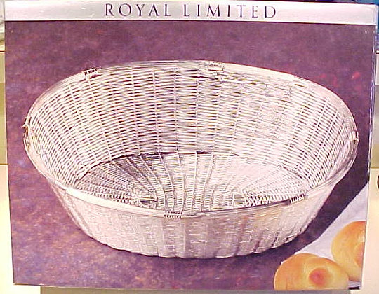 Silverplate Basket Woven Oval Royal Limited Weave
