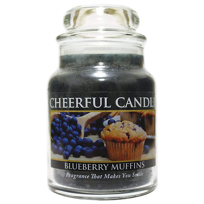 Blueberry Muffin 6 Ounce Glass Baby Jar Candle