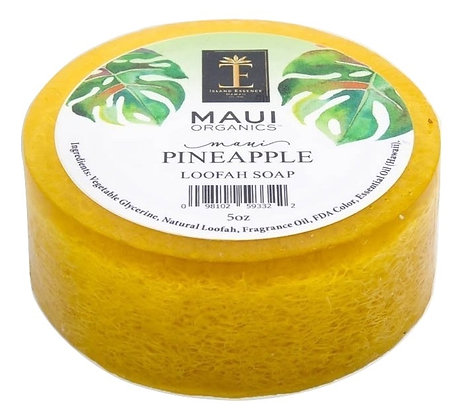 Maui Organics Maui Pineapple Loofah Soap 5 Oz