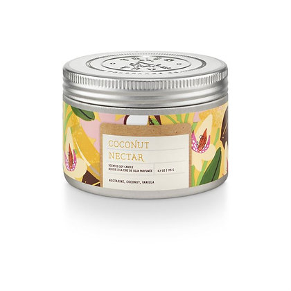 Coconut Nectar 4oz Soy Wax Candle Tin