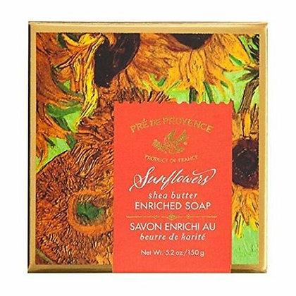 SUNFLOWERS GIFT BOX SOAP 150G 5.2 OZ