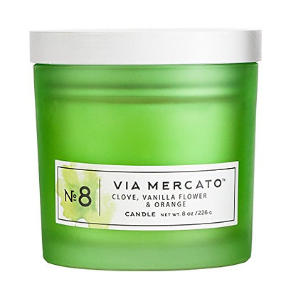Via Mercato Candle No 8 Clove, Vanilla Flower & Orange
