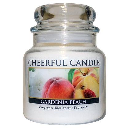 Gardenia Peach 16 Ounce Glass Jar Candle