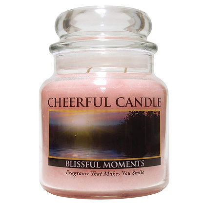 Blissful Moments 16 Ounce Glass Jar Candle