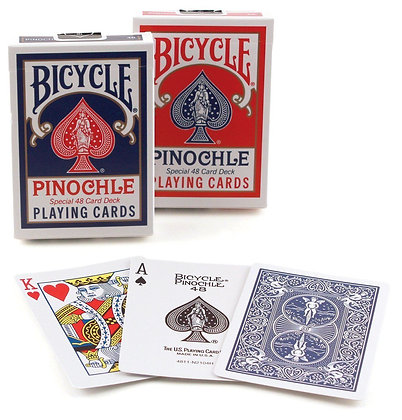 2 Decks Bicycle Rider Back Pinochle Standard