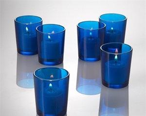 BLUE VOTIVE CUP