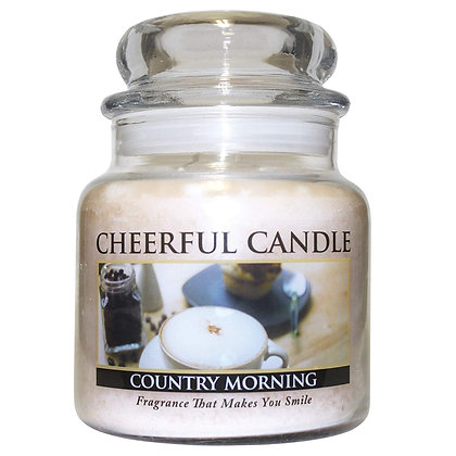 Country Morning 16 Ounce Glass Jar Candle