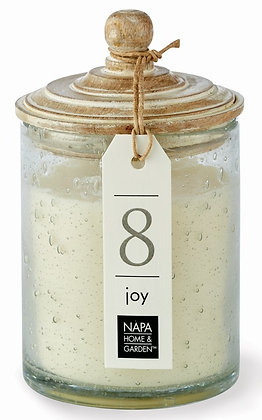 Joy Gray Oak Scented Soy Wax Candle