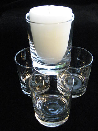 CLEAR CANDLE CUP 6OZ