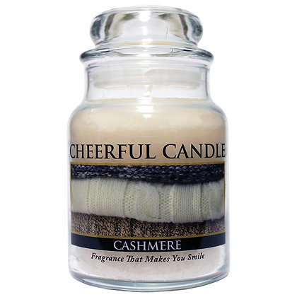 Cashmere 6 Ounce Glass Baby Jar Candle