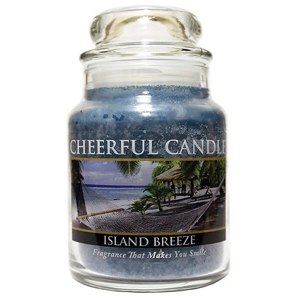 Island Breeze 6 Ounce Glass Baby Jar Candle