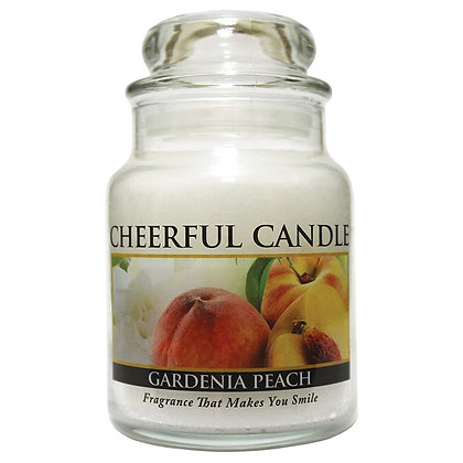 Gardenia Peach 6 Ounce Glass Baby Jar Candle