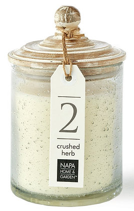 Crushed Herb Gray Oak Scented Soy Wax Candle