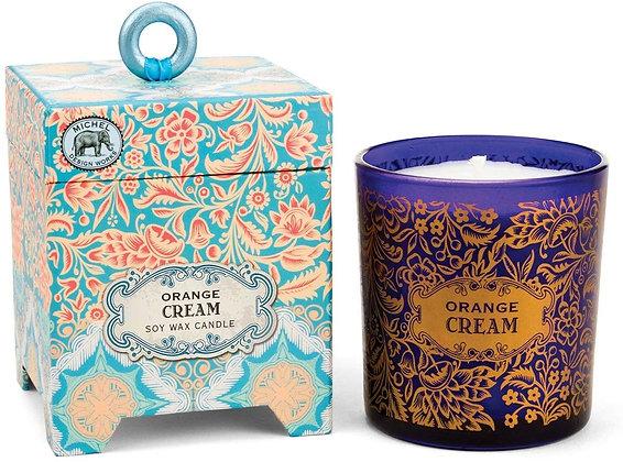 Orange and Cream 6.5 Ounce Keepsake Box Candle