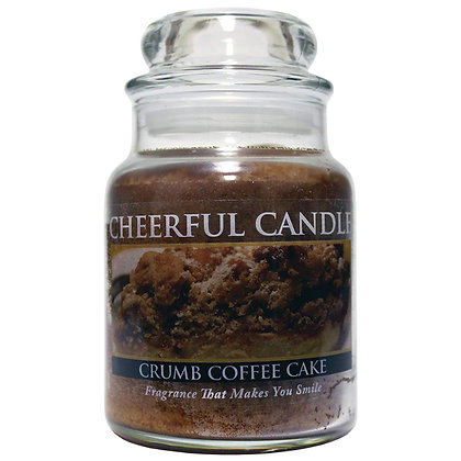 Crumb Coffee Cake 6 Ounce Glass Baby Jar Candle