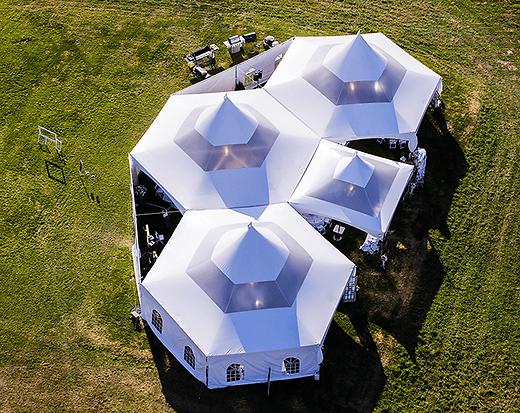 Okanagan Wedding, Marquee Tent Set Up, Bird's Eye View