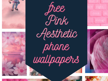 13 free pink aesthetic phone wallpapers / backgrounds