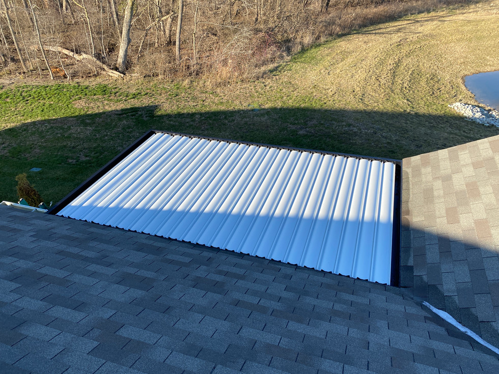 View.above.louvered.roof
